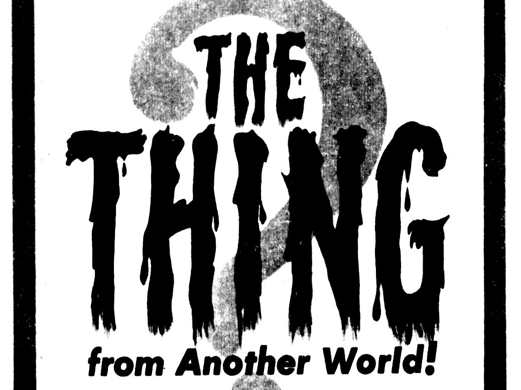 """""""The Thing from Another World,"""" Sunday, Jan. 7, 1951"""