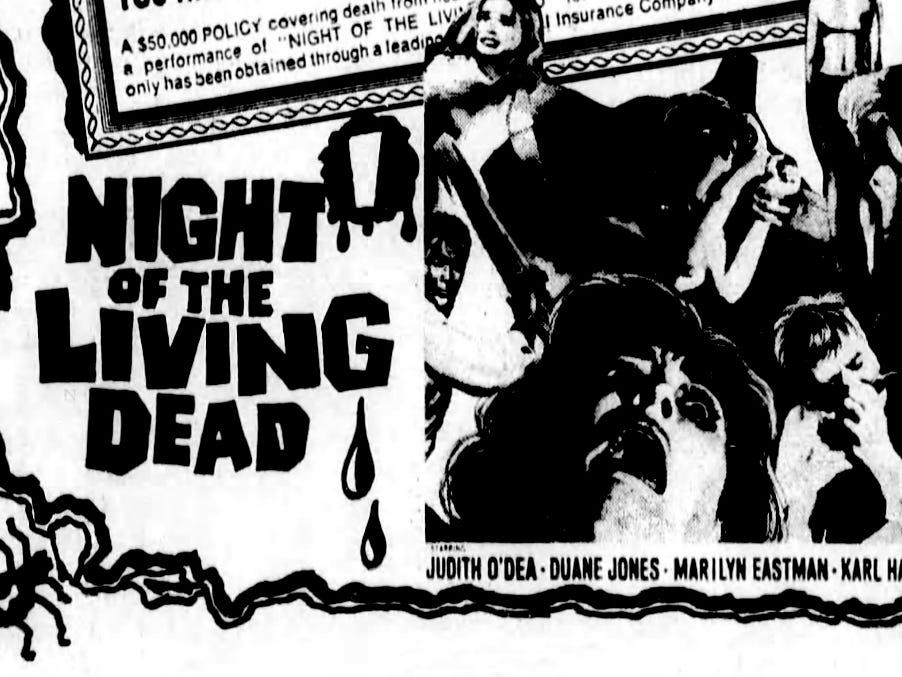 """""""Night of the Living Dead,"""" Friday, Nov. 29, 1968"""