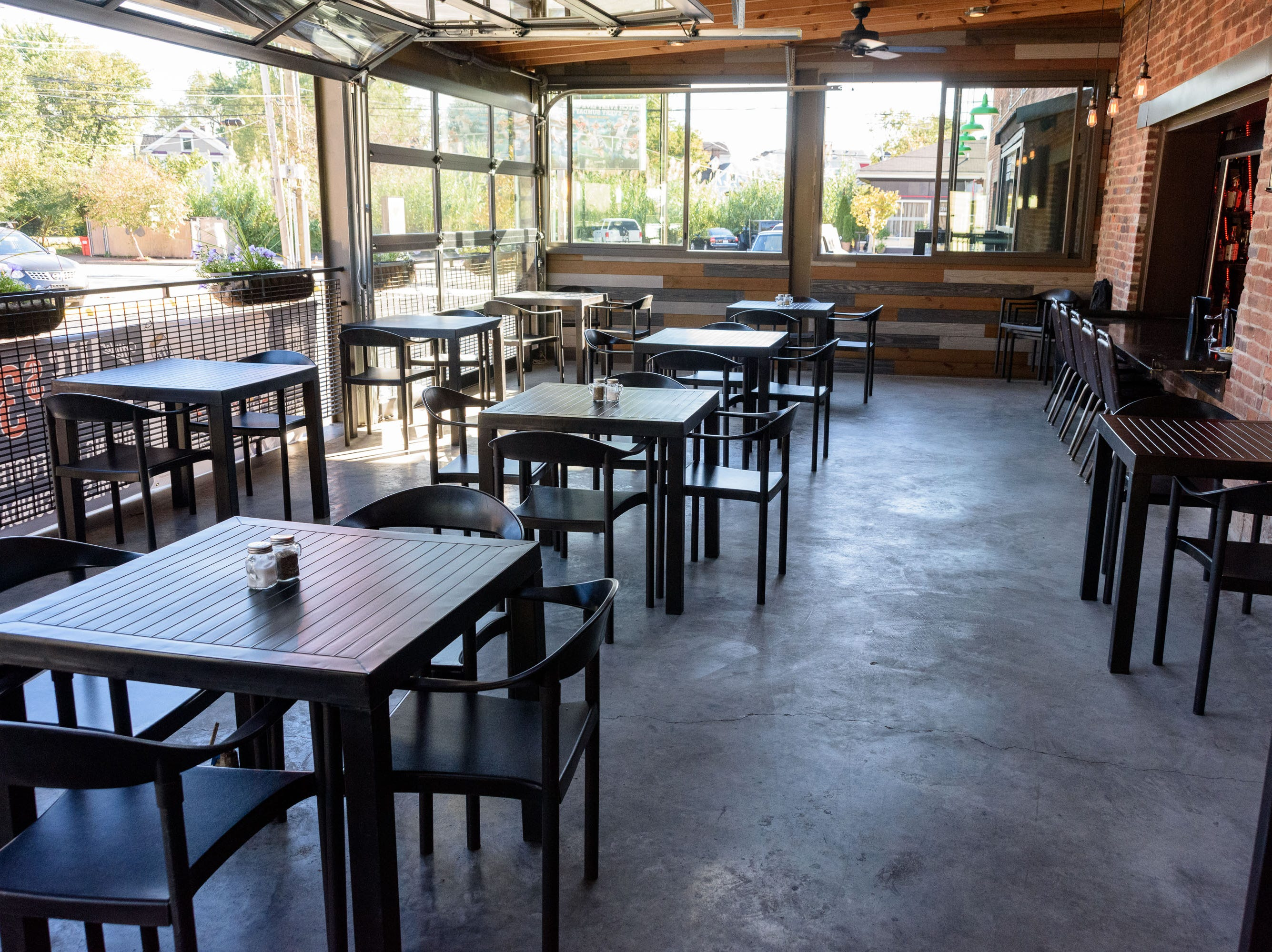 Patio seating at The Manhattan Project at 2101 Frankfort Ave. Oct. 18, 2018
