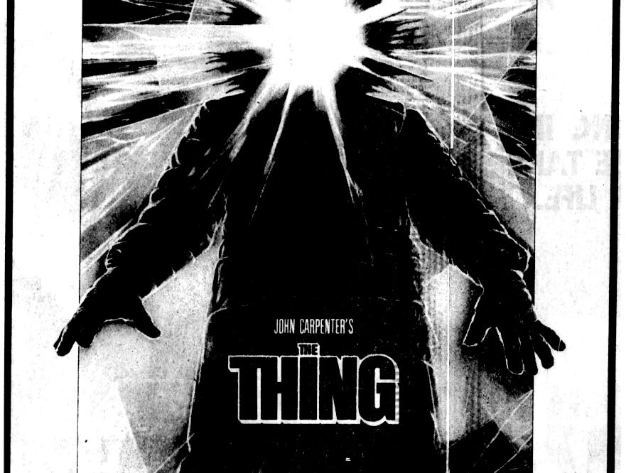 """""""The Thing,"""" Friday, June 25, 1982"""