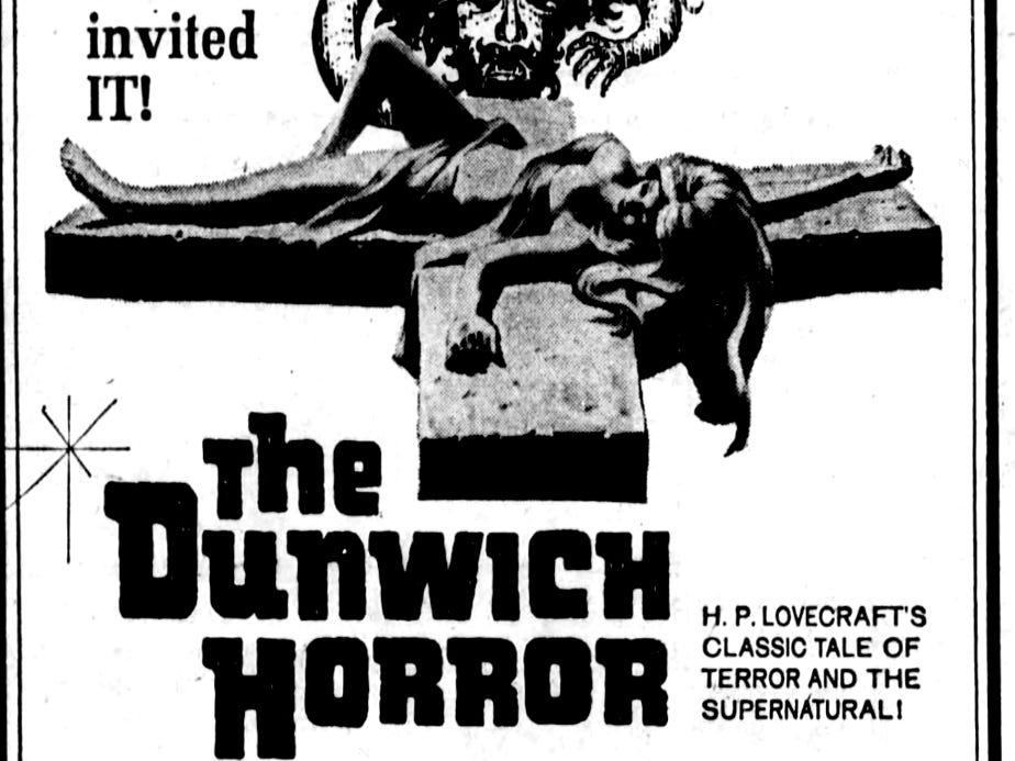 """The Dunwich Horror,"" Wednesday, Feb. 4, 1970"