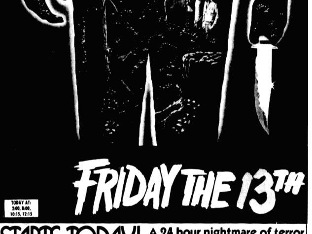 """Friday the 13th,"" Friday, May 9, 1980"