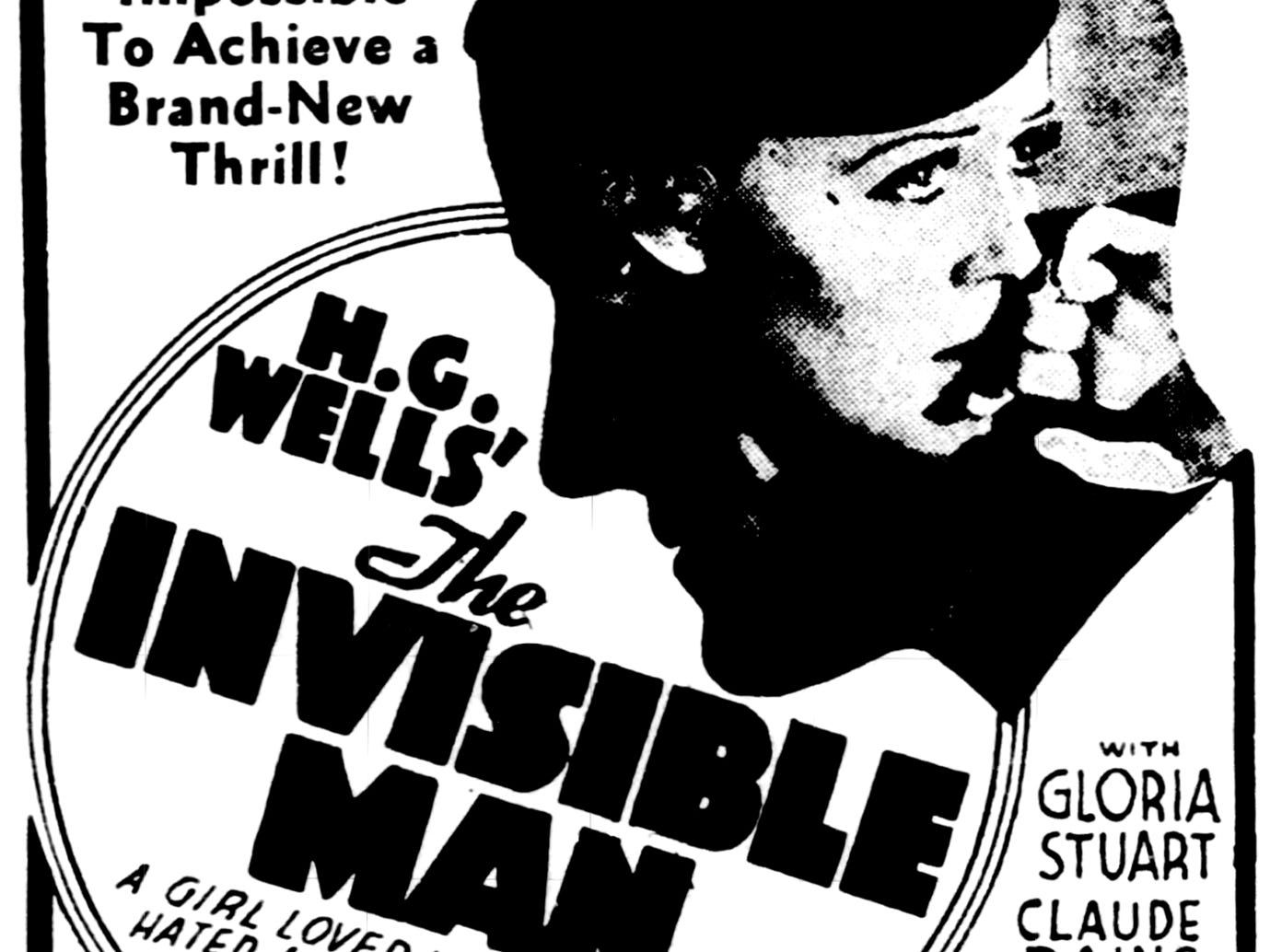 """""""The Invisible Man,"""" Friday, Dec. 1, 1933"""