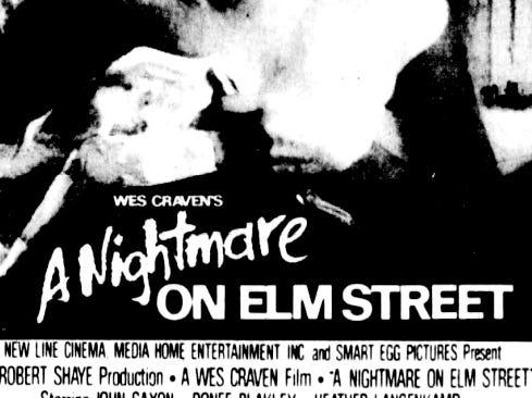 """A Nightmare on Elm Street,"" Friday, Jan. 25, 1985."