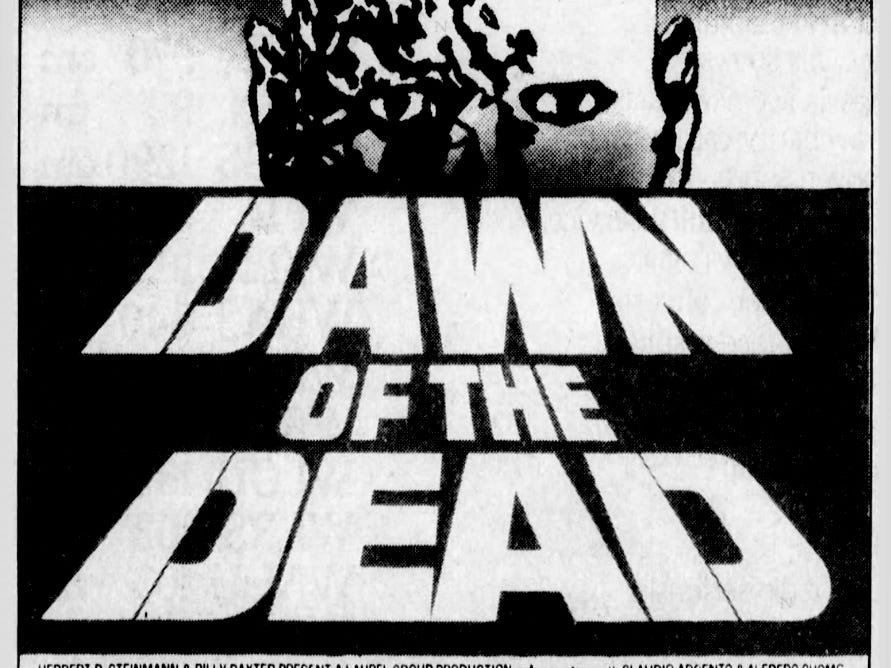 """""""Dawn of the Dead,"""" Friday, May 18, 1979"""