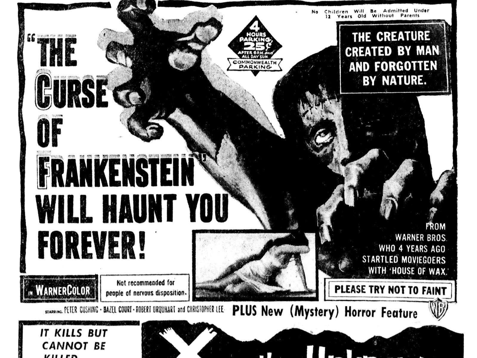 """""""The Curse of Frankenstein,"""" Thursday, July 18, 1957"""