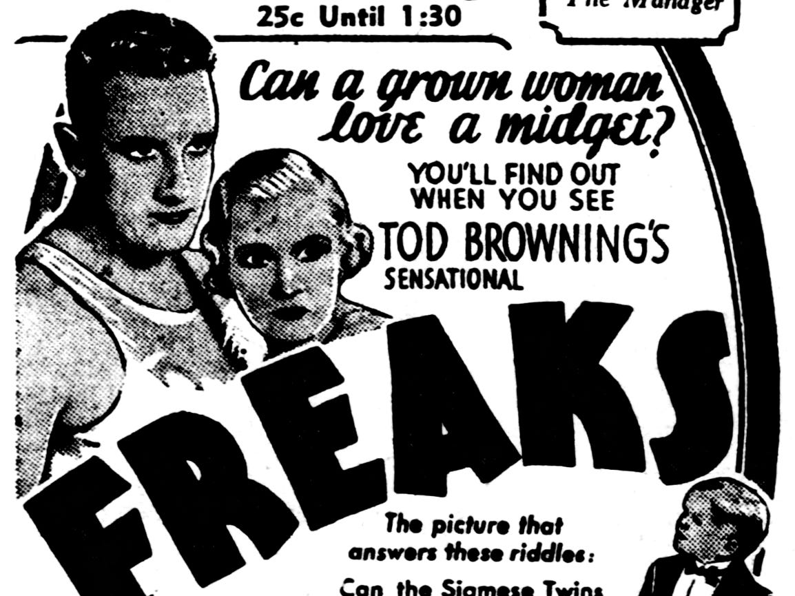 """Freaks,"" Friday, Feb. 19, 1932"