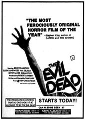 """The Evil Dead,"" Friday, Sept. 2, 1983"