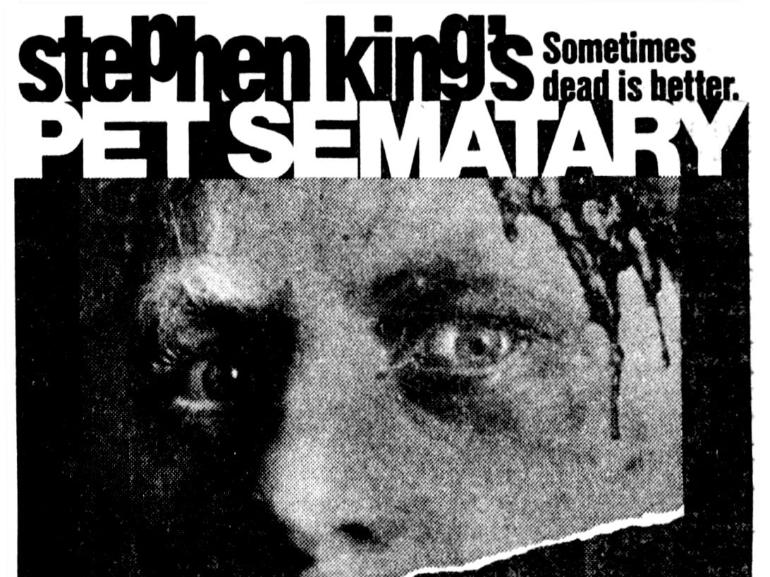 """Pet Sematary,"" Friday, Apr. 21, 1989"