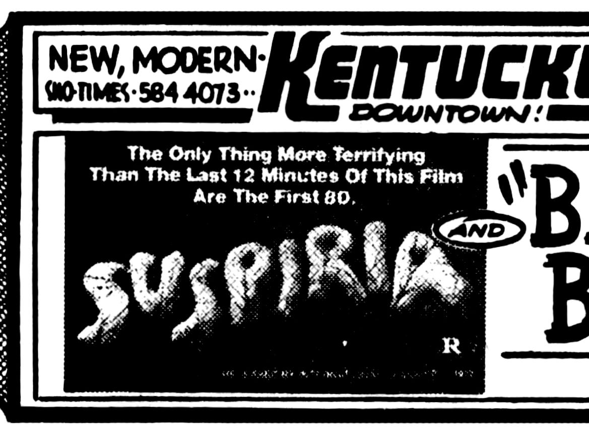 """""""Suspiria,"""" Sunday, Oct. 30, 1977"""