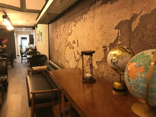 The interior of Clairmont's Coffee, opening next month in downtown St. Johns. The coffee shop will offer craft coffee drinks and Cops & Doughnuts treats.