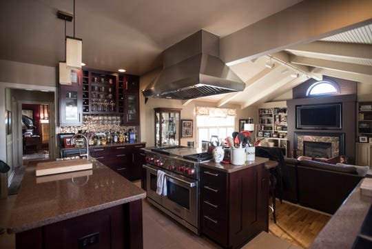 The kitchen and family room in the Demmer farmhouse.