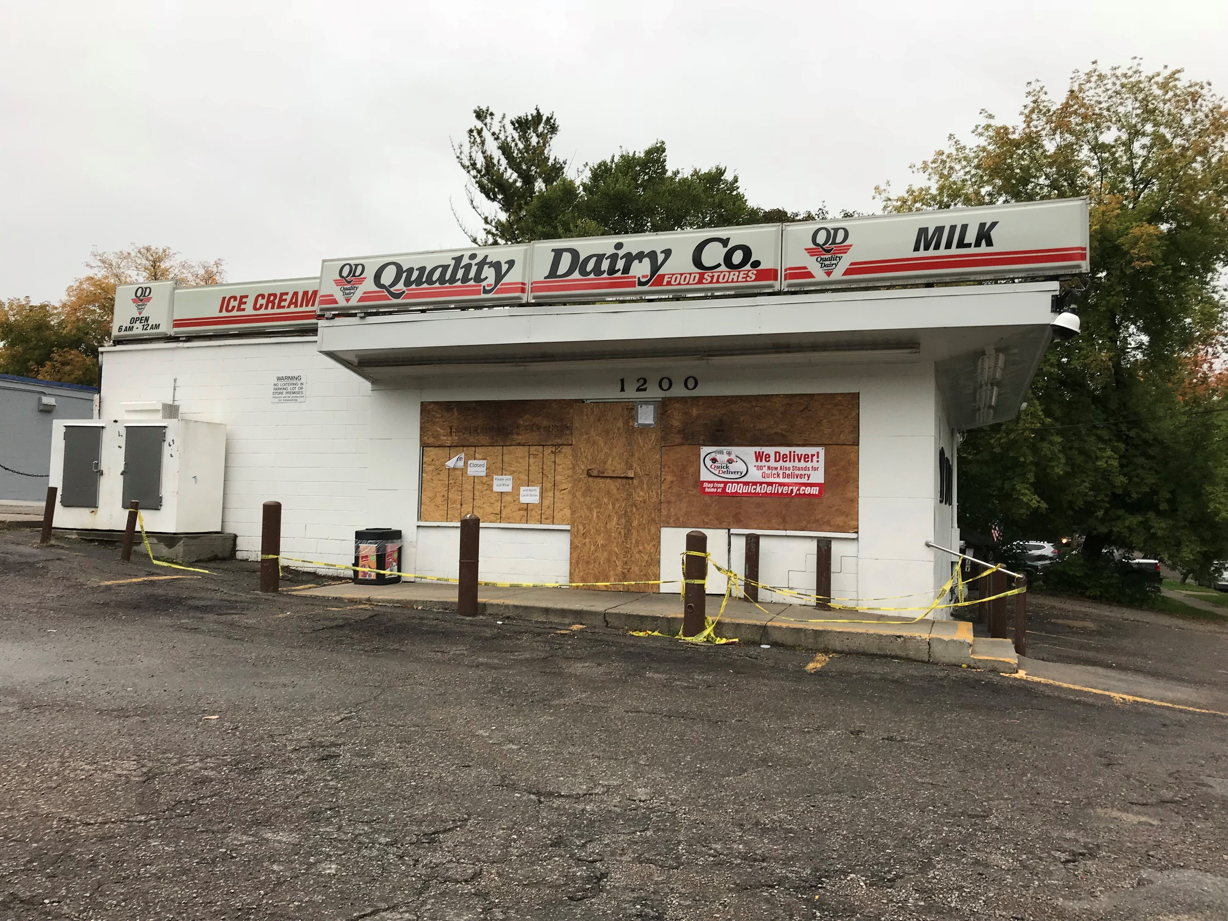 Lansing police said a 56-year-old man had a medical emergency at about 8 p.m. Sept. 23 while he attempted to park his vehicle in front of a Quality Dairy store at 200 W. Willow St. in Lansing. This photo of the boarded up store was taken Oct. 6 by a State Journal reporter. The store remains closed.