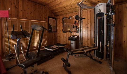 An exercise room in the Demmer farmhouse.