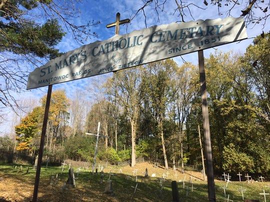 St. Mary's Catholic Cemetery sign