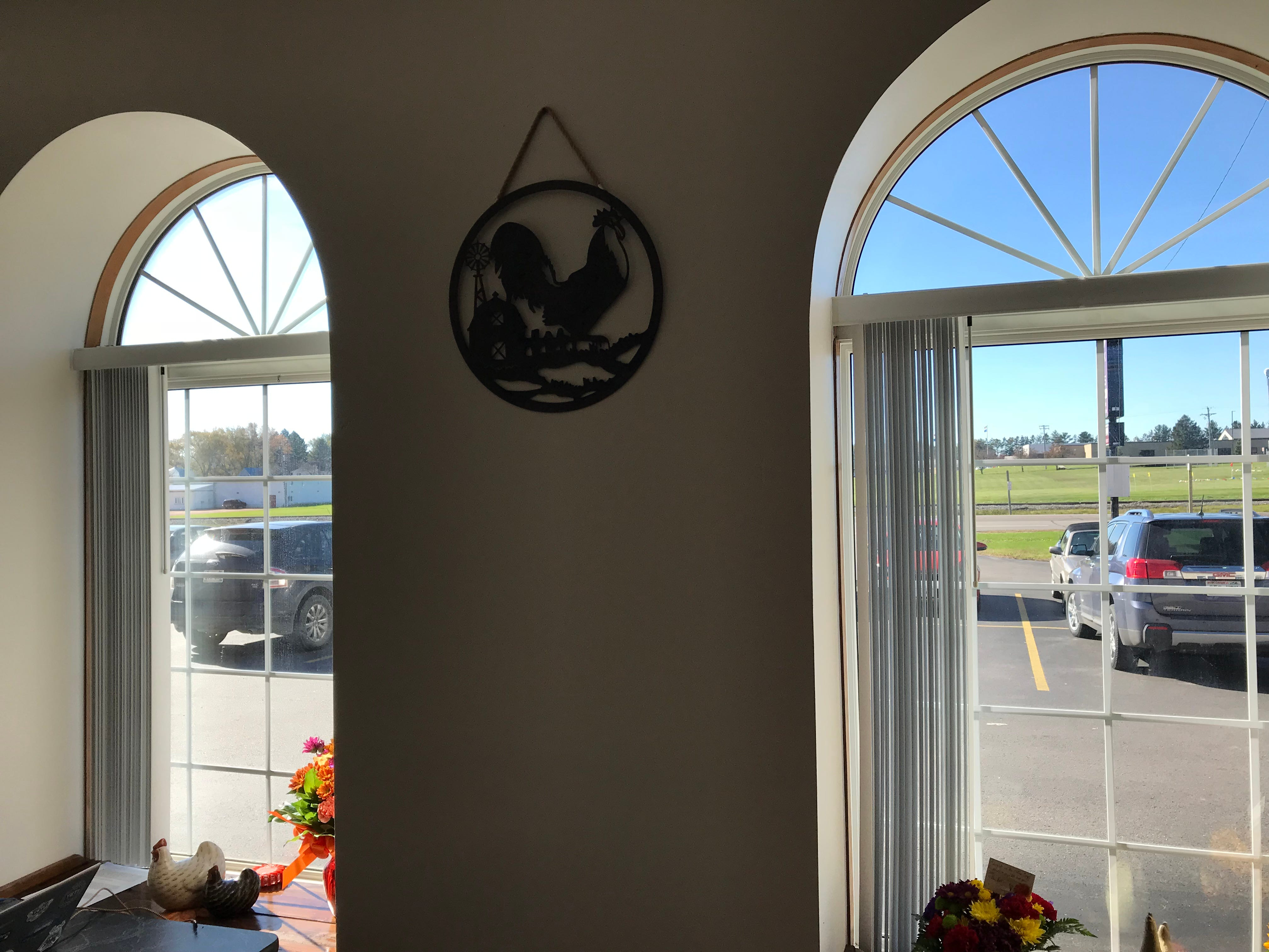 A chicken logo and decor fills The Coffee Coop that opened on Oct. 15 in Colby.