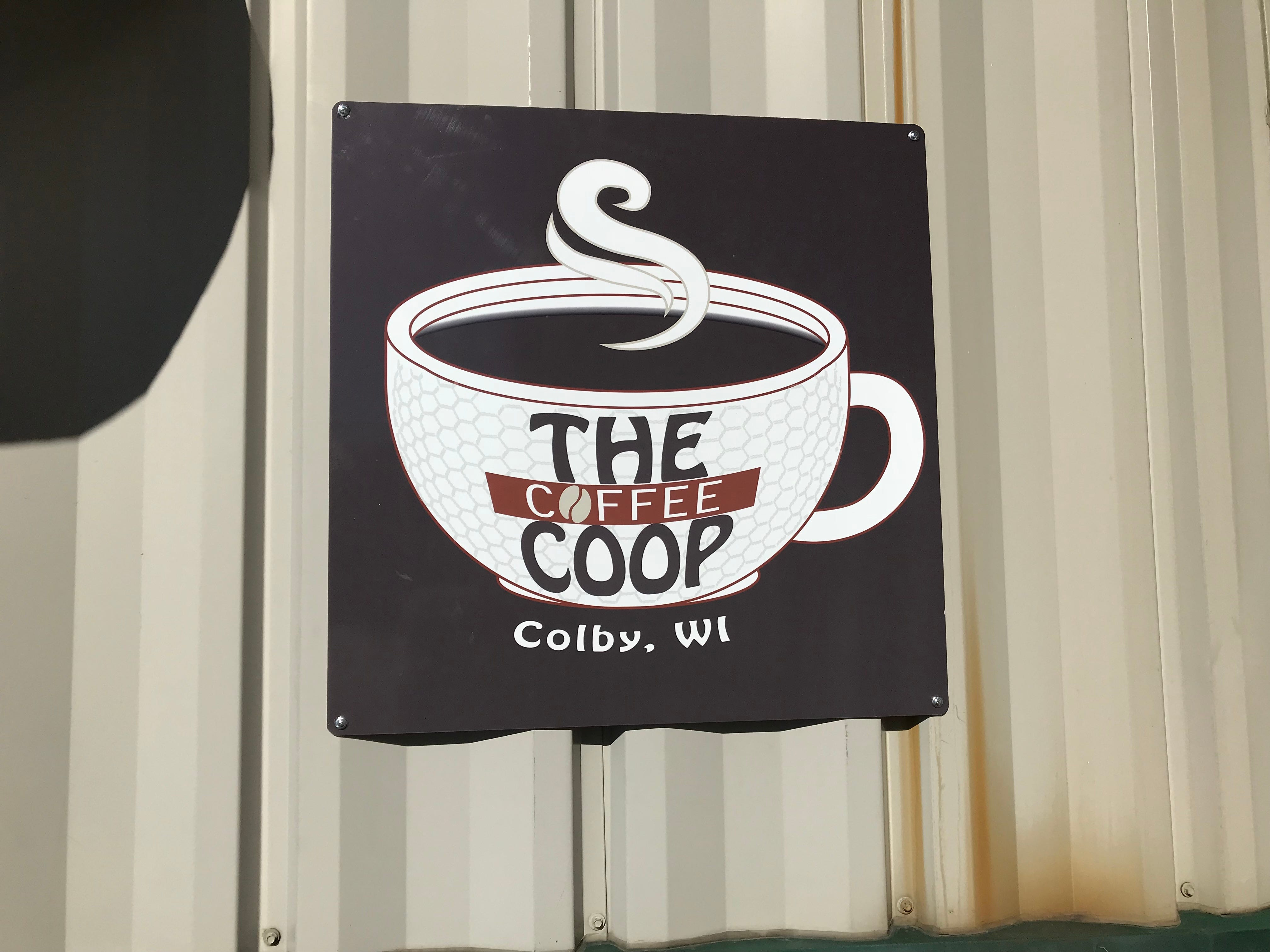 Sign outside The Coffee Coop.
