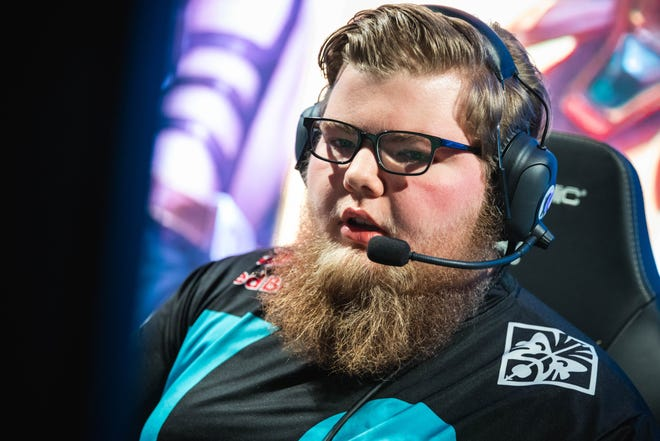 """Tristian """"Zeyzal"""" Stidam from Shelby competes during day five at the 2018 World Championship Group Stage at the Busan Exhibition and Convention Center in Busan, South Korea, on 14 October 2018."""