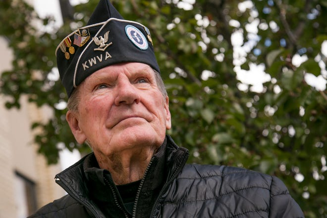 Doug Theaker, who served in the U.S. Navy during the Korean War, has been inducted into the Ohio Veterans Hall of Fame this year.