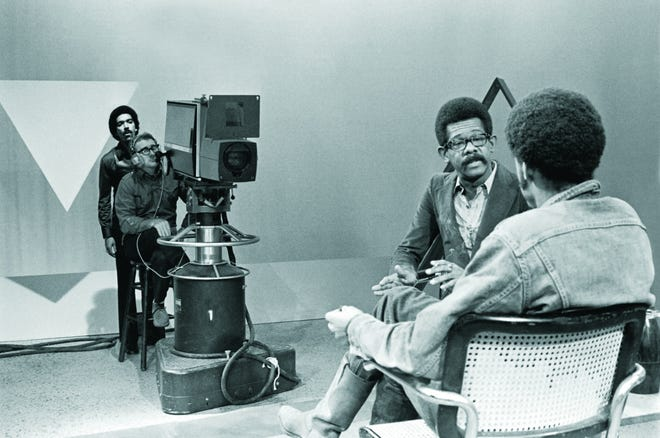 "Ellis Haizlip (center, seen here interviewing Melvin Van Peebles) was the host of ""SOUL!,"" the influential ""Negro entertainment-talk show"" that is chronicled in the documentary ""Mr. SOUL!"""