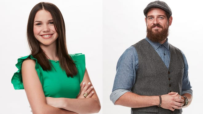 Reagan Strange, left, and Keith Paluso are both competing on the The Voice.