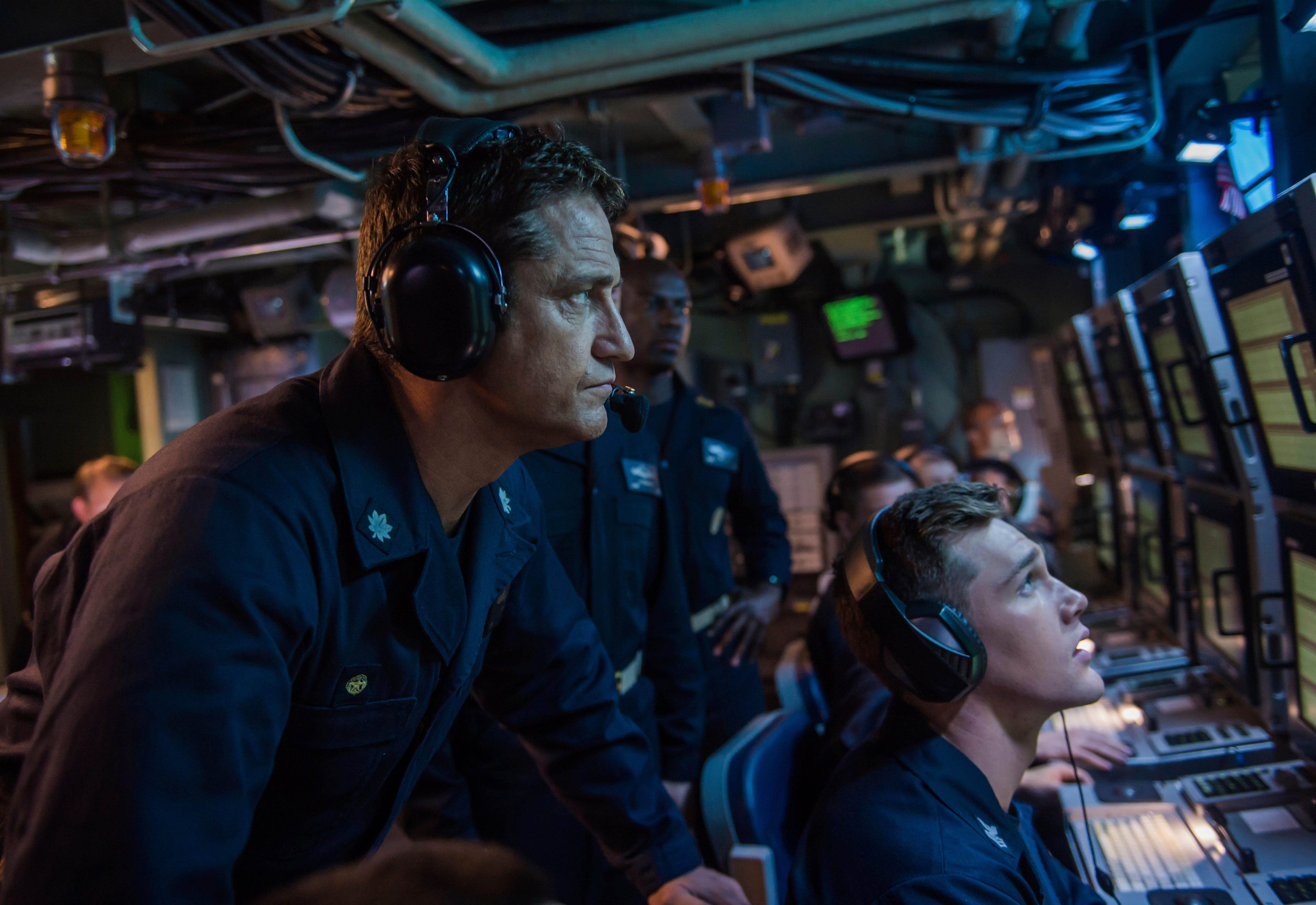 "Gerard Butler takes the helm in ""Hunter Killer."""