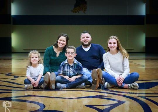 The Mattox family (from left) Lucy, Anna, Jordan, Brandon and Aniya
