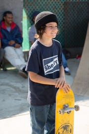 "Sunny Suljic plays a young skateboarder who finds a community in 1990s L.A. in Jonah Hill's ""Mid90s."""