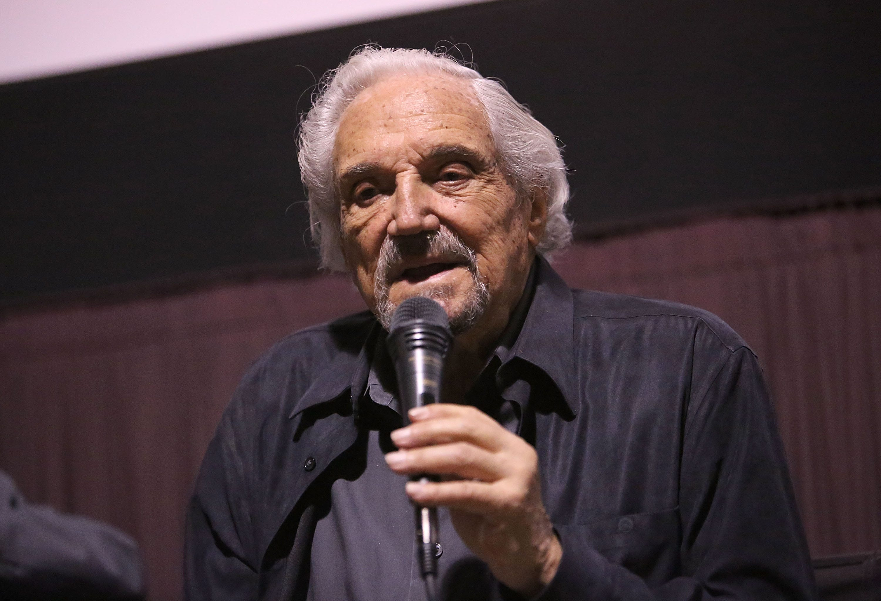 "Hal Linden takes a question at a recent screening in Beverly Hills, Calif., for ""The Samuel Project."" In the movie, he plays a grandfather whose grandson's research project into his life unearths a story of survival during the Holocaust."