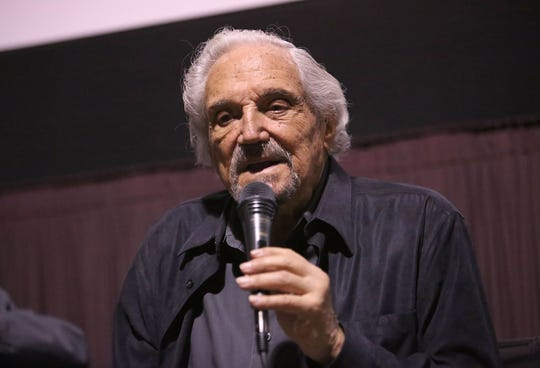 """Hal Linden takes a question at a recent screening in Beverly Hills, Calif., for """"The Samuel Project."""" In the movie, he plays a grandfather whose grandson's research project into his life unearths a story of survival during the Holocaust."""