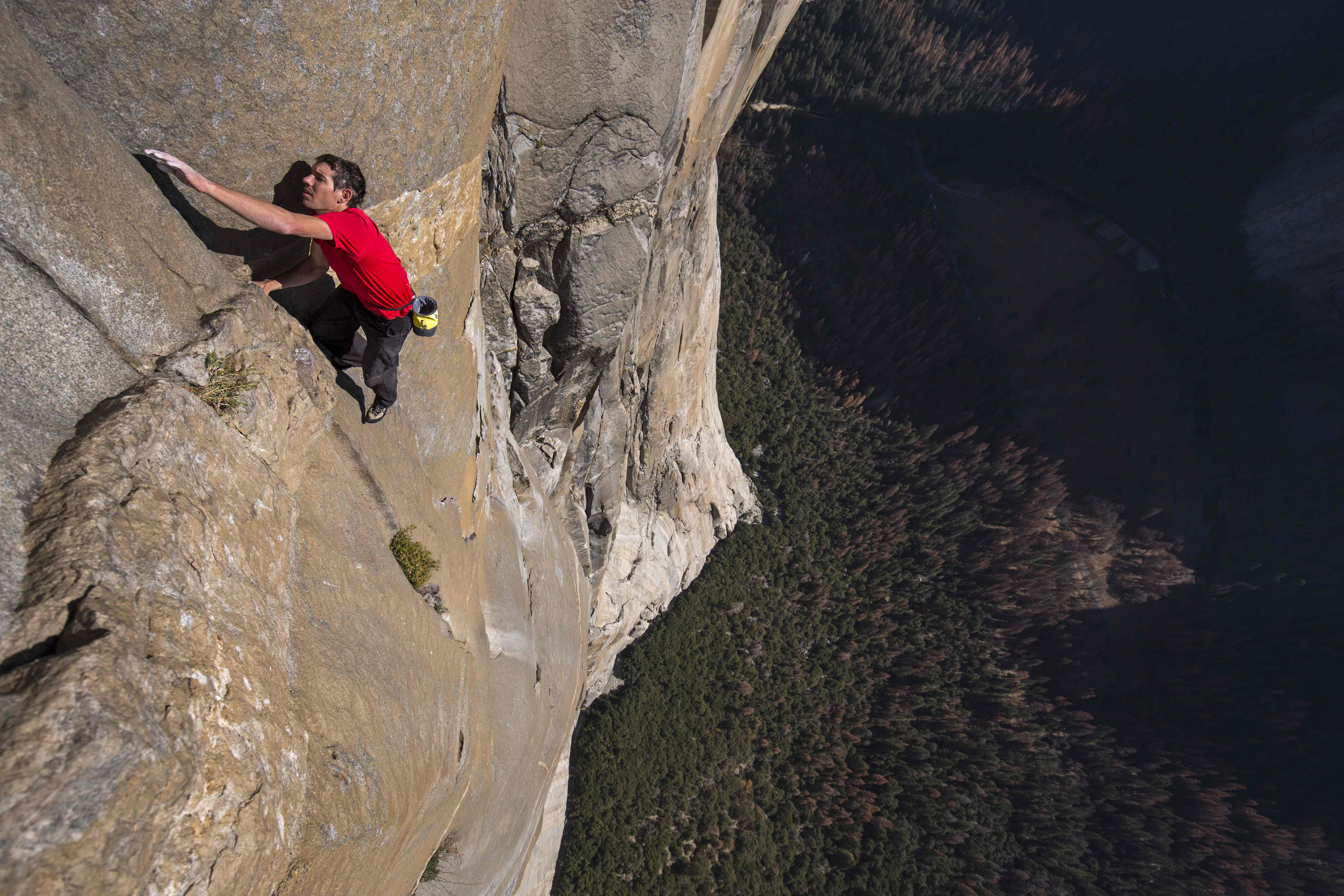 "Alex Honnold's quest to climb El Capitan in Yosemite National Park is chronicled in the documentary ""Free Solo."""