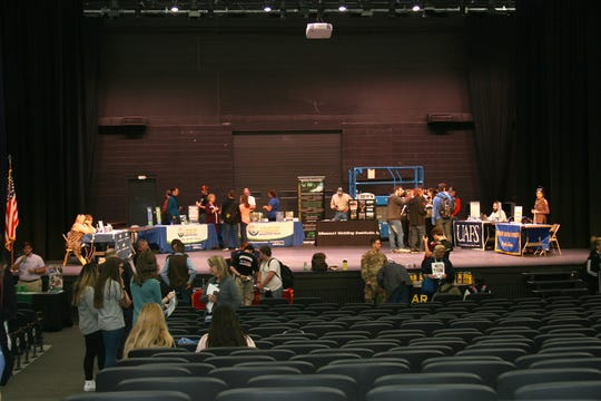 More than 700 students from Cotter, Flippin, Mountain Home and Norfork school districts had an opportunity to get information from the 35 universities, trade schools and branches of the military represented Tuesday afternoon at the Mountain Home High School College Fair in Dunbar Auditorium.