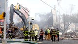 The fire began Monday afternoon in the basement of Barry's Luncheonette on North Warren Street and burned intensely for more than five hours.