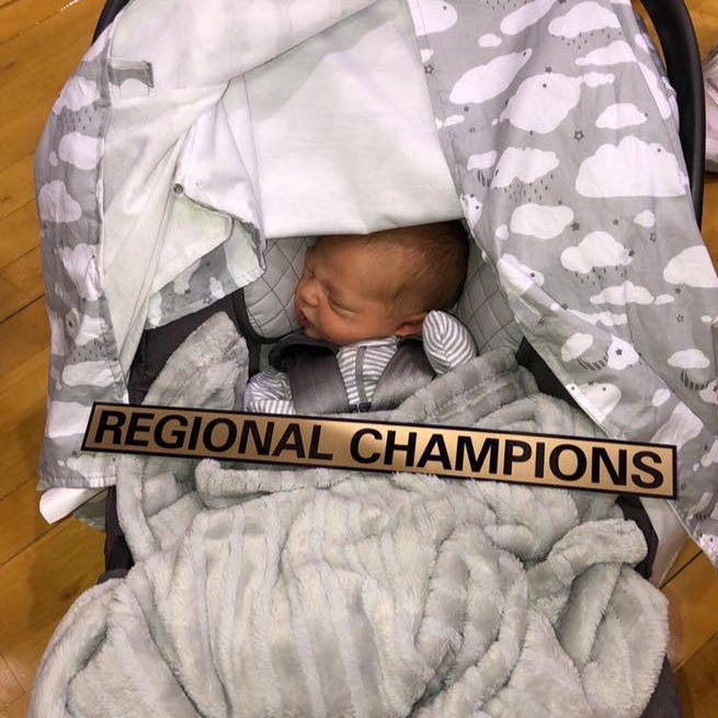 New Castle coach gives birth to first child during championship run