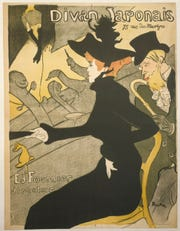 Henri de Toulouse-Lautrec (1864-1901). Le Divan Japonais, 1892-93. Lithograph, 31 3/4 x 24 1/2 in. Musée Carnavalet.