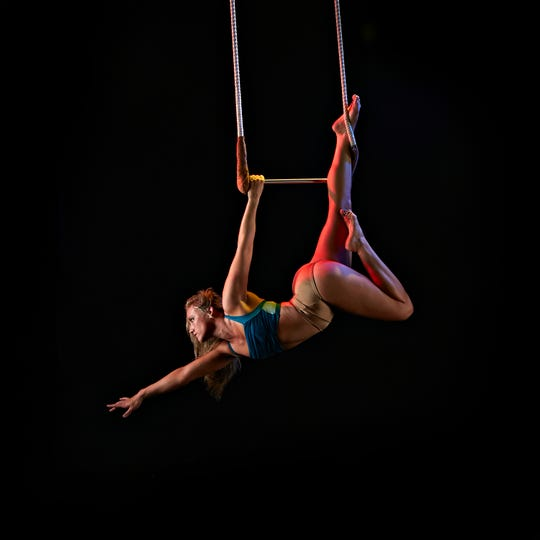 Aerial performer with Suspended Gravity.
