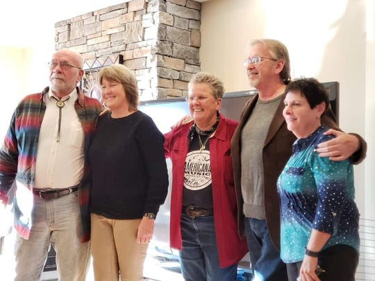(L-R) Bernie Ellis, Jill Sissel, Valerie Whitcomb, Mike Green and Liz Ficalora at the Kickstarter supporters thank you party at Avalon Farms on Sunday, Oct. 22.