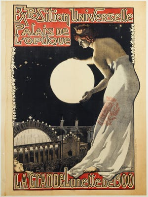 Georges Leroux (1877-1957). The International Exhibition's Palace of Optics, 1900. Lithograph, 31 3/4 x 23 5/8 in. Musée Carnavalet.