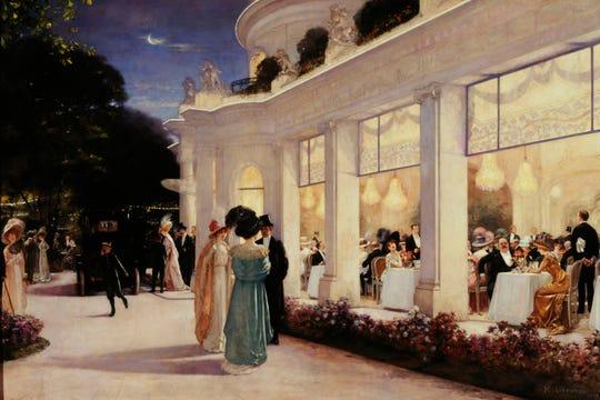 Henri Gervex (1852-1929). An evening at the Pré Catelan, 1909. Oil on canvas, 85 3/8 x 125 1/4 in. Musée Carnavalet.
