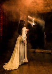 """Quentin Oliver Lee as the Phantom and Eva Tavares as Christine Daaé in """"Phantom of the Opera."""""""
