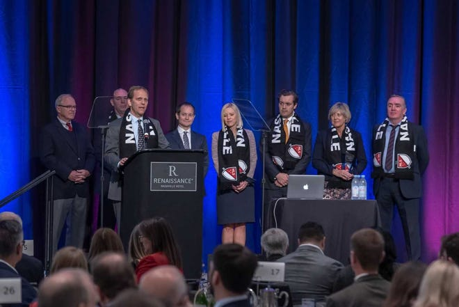Hundreds of business leaders were on hand for the Nashville Area Chamber of Commerce's annual meeting.