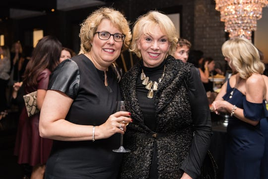 Keri Mcinnis and Marjorie Feltus Hawkins attend the 2018 Champagne & Chardonnay.