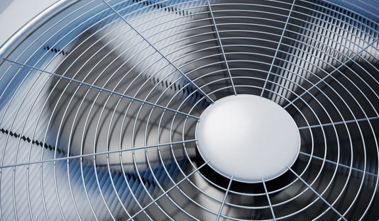 Close Up View On Hvac Units Heating Ventilation And Air Conditioning 3d Rendered Illustration