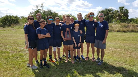 The Southwest Florida Christian Academy boys cross country team won the Class 1A-District 8 championship on Tuesday, Oct. 23, 2018