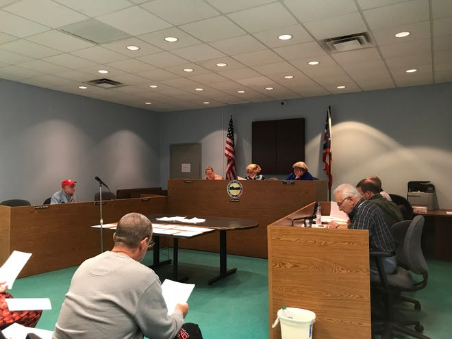 A file photo from October 2018 shows Buckeye Lake Village Council during a regular council meeting.