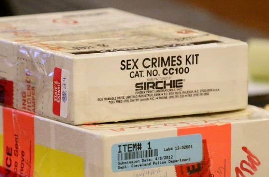 Rape kit seen in the trial of George R. Young, Tuesday, April 26, 2016.  DNA testing brought charges against Young.