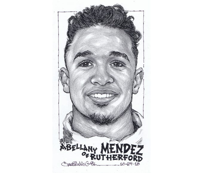 "Abellany ""Johnny"" Mendez, Rutherford football"