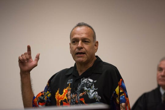 Porfirio Ornelas, a past participant in the DWI Drug Court program, spoke to current participants about his experience and said he credits the program with a large part of his recovery from addiction, Monday October 22, 2018.