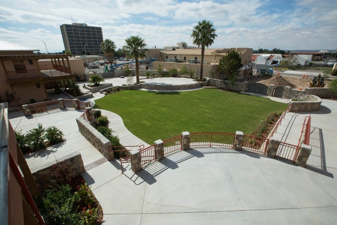 The courtyard and concert stage at the the new Amador entertainment complex, Monday October 22, 2018.