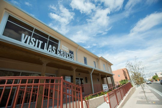 The Las Cruces Convention and Visitors Bureau at Main Street and Amador Avenue, built as part of the Amador project, got a new sign this week.